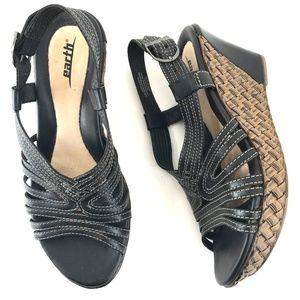 Earth Wedge Platform Heel Sandals Size 10